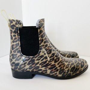 SAM EDELMAN cheetah rain booties Size 6